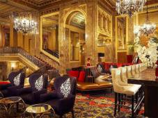 The lobby of the Sir Francis Drake. So low-key ...