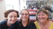 Me, Megan and Tracy in the waiting room.