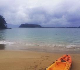 Kayaking on Pittwater.