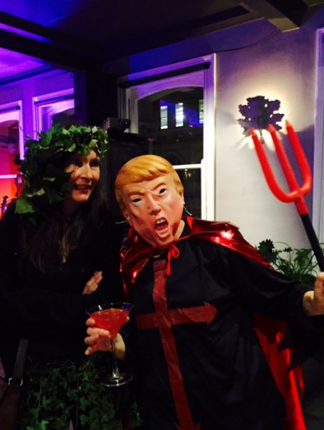 Poison Ivy and Donald Trump.