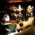 Making the espresso martinis.