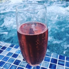 Pink bubbles with the bubbles.