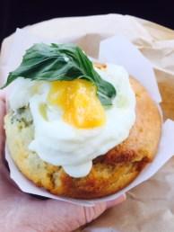 Brekkie muffin in Bunbury.