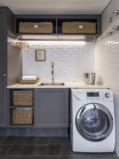 20 Space Saving Ideas For Functional Small Laundry Room