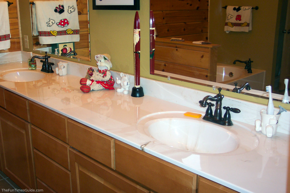 how to clean marble countertops & bathroom vanities without