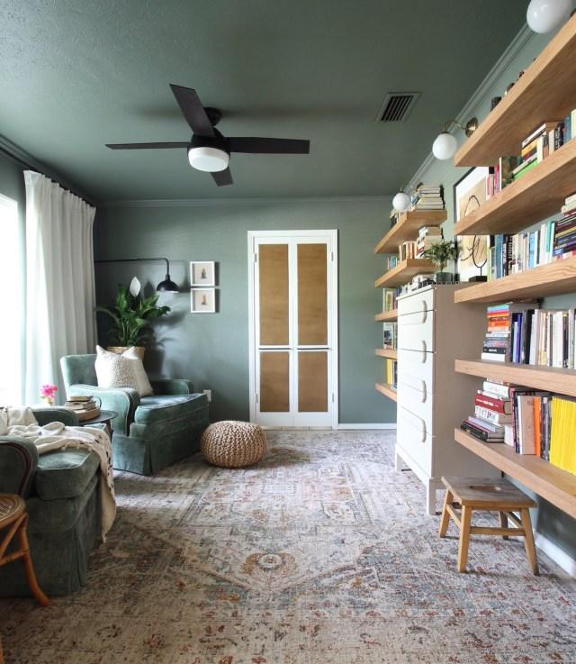 reading , book room sherwin williams retreat