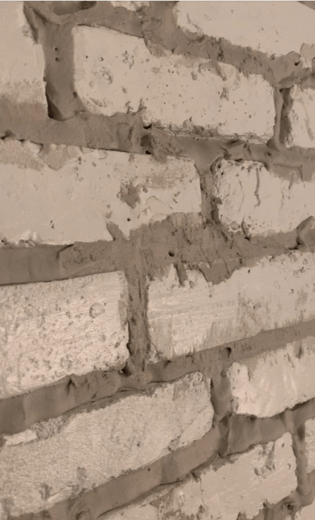 press mortar down when overgrouting a fireplace