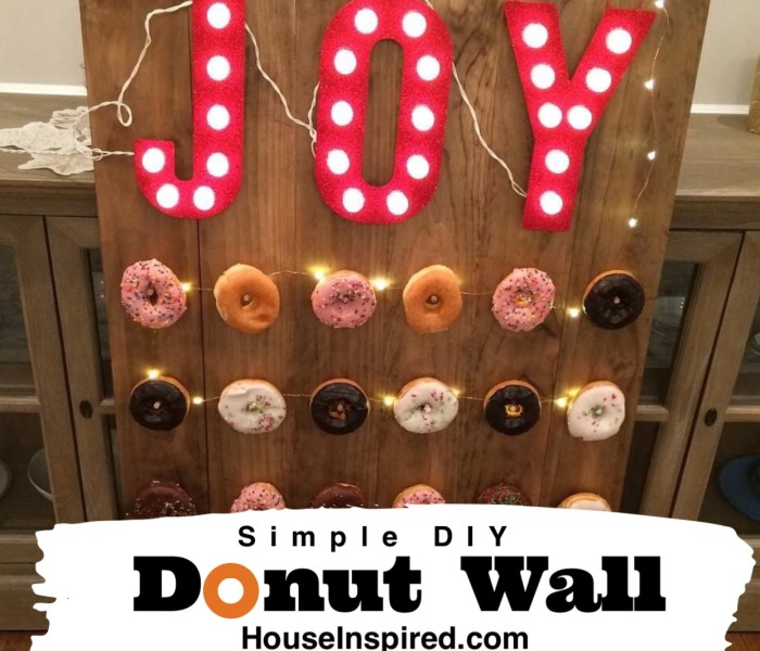 Easy DIY Donut Wall