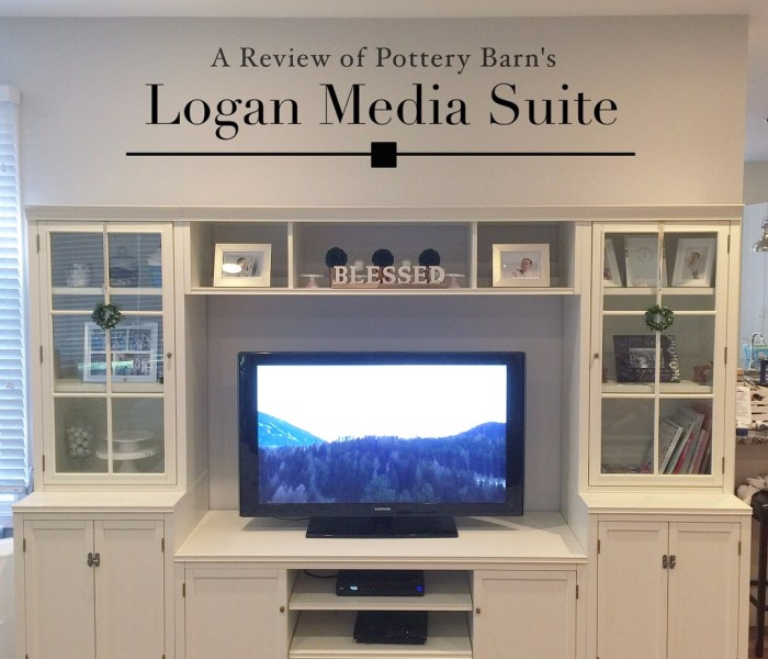 Pottery Barn Logan Media Suite Review