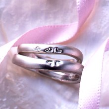 結婚指輪 マリッジリング クローバー ハート