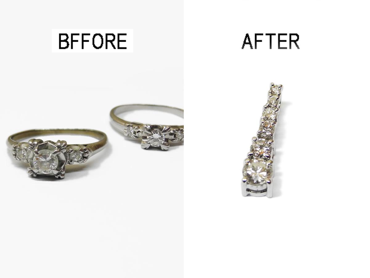 一列ネックレス グラデーションネックレス ダイヤモンド