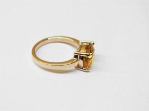 インペリアルトパーズ シンプル ピンクゴールド リング 指輪