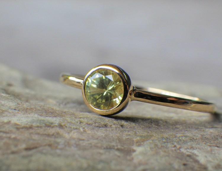 Yellow Sapphire x 18K ring (gr-5)_1