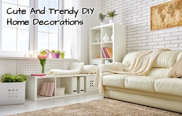 Cute And Trendy DIY Home Decorations