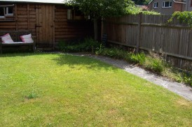 Back garden - completely enclosed so lovely for sitting out.