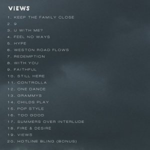 "Drake-Reveals-""VIEWS""-Tracklist"