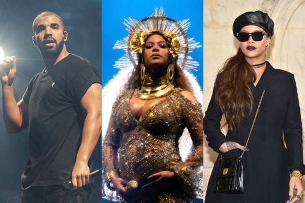 Drake, Rihanna, Beyonce & The Weeknd Among Top Nominees For 2017 Billboard Music Awards
