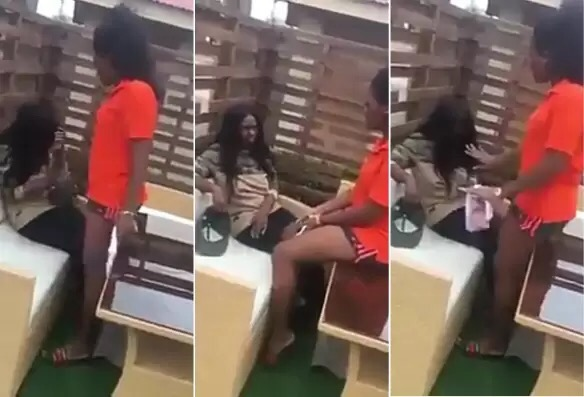 Video: Lady gets a beat down from her alleged lesbian partner for cheating with a man