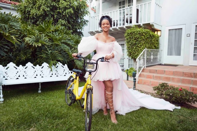 Rihanna Teams With Ofo Bike-sharing to Bring Bikes, Scholarships to Foundation