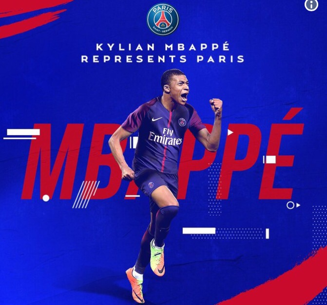 Kylian Mbappe completes his €180 million Paris Saint-Germain move
