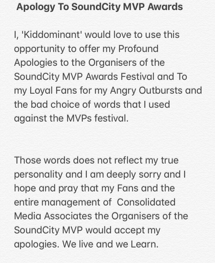 Producer Kiddominant Apologises For Rant Against SoundcityMVP Awards