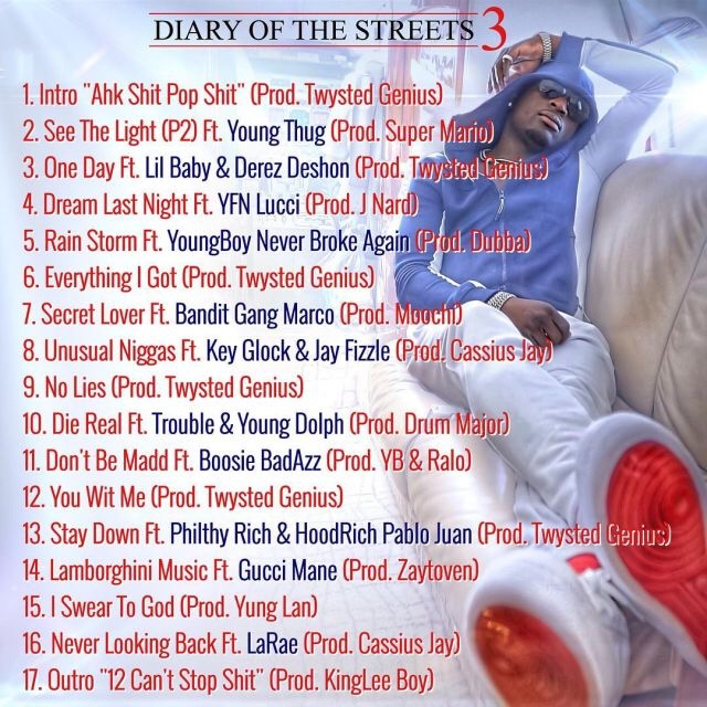 Ralo - Diary Of The Streets 3 mixtape download