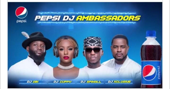 Pepsi Signs DJ Cuppy, DJ Spinall, DJ Xclusive, DJ Obi As Ambassadors
