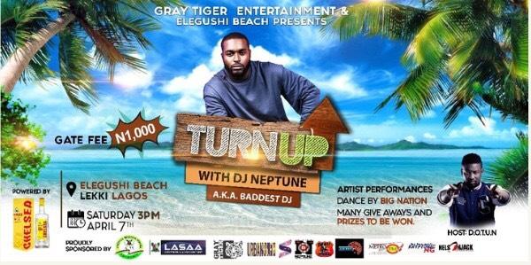 DJ Neptune To Thrill Fans On April 7th At Elegushi Beach