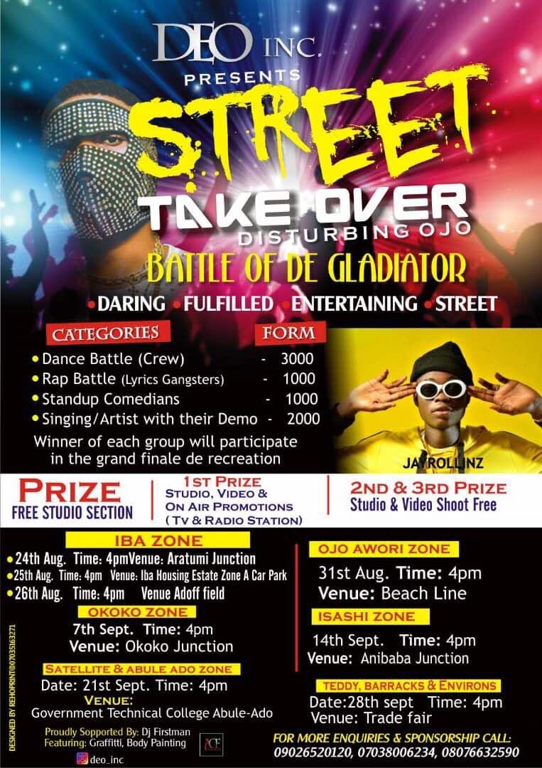 DEO INC MUSIC AND DANCE TALENT HUNT LANDS LAGOS #DisturbingOJo