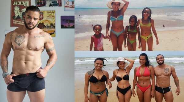 Brazilian female-to-male transgender recreates childhood photo