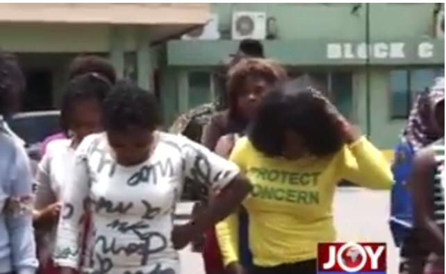 Photos of 72 Nigerian sex workers to deported from Ghana