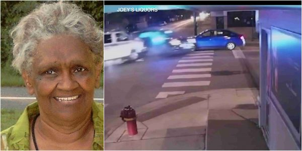 Video Footage Of 2 police vehicles colliding and killing an old woman