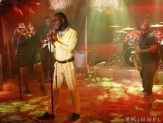 Burna Boy Performs AnyBody On Jimmy Kimmel Live!