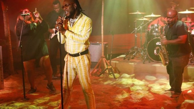 Burna Boy Performs AnyBody On Jimmy Kimmel Live!