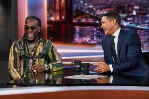 Burna Boy Talks New Album, performs Ye on Trevor Noah The Daily Show show
