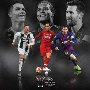 Messi, Ronaldo, And Van Dijk Shortlisted For UEFA Player Of The Year, Who Wins?