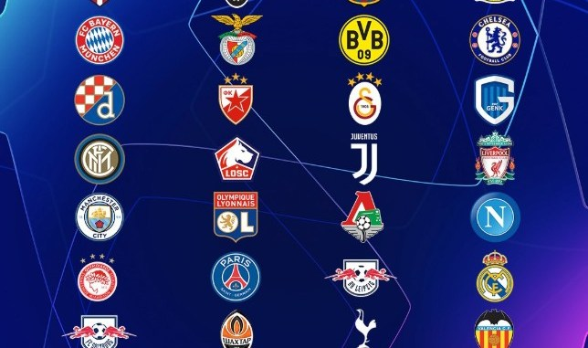 The 2019/20 Champions League group stage draw in full