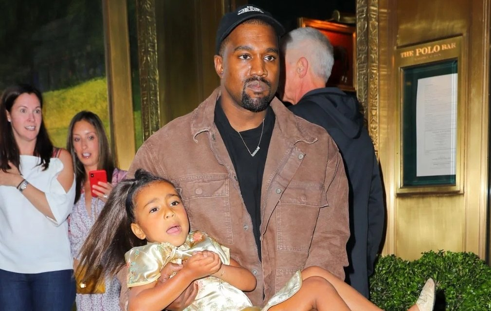Kanye West Bans his daughter, North from wearing makeup
