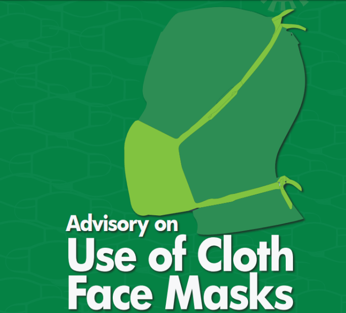 NCDC advisory on use of cloth face masks
