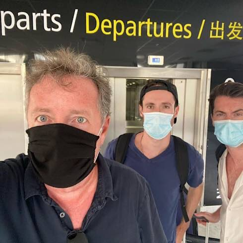 Piers Morgan And His Sons Have Completed A Mad Dash Back To The UK
