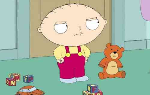Family Guy's Stewie has spoken his first words