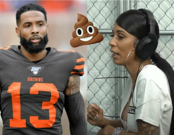 Chief Keef's Baby Mama Slim Danger Took A Dump On Odell Beckham Jnr