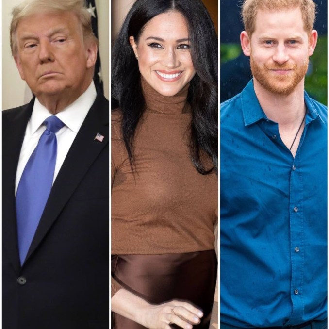 Donald Trump Fires Back at Meghan Markle, Prince Harry After Election Comments