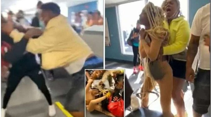 A fight breaks out at Miami Airport 'over mask'