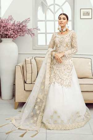 AKBAR ASLAM-Chiffon Collection-Formals-SNOWDROP