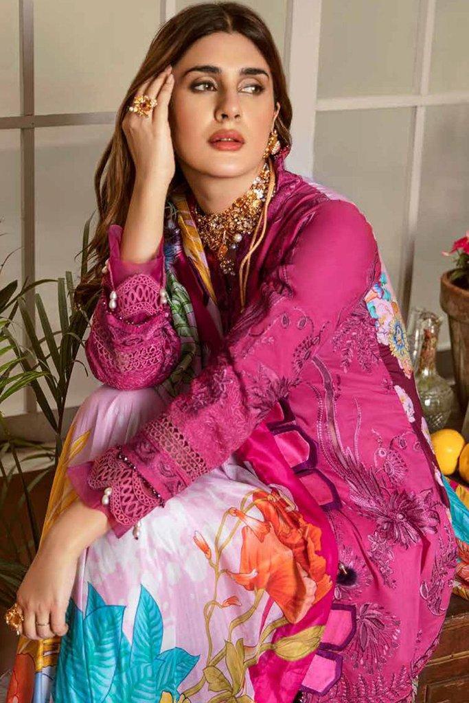 Maryam hussain festive lawn collection 2020 mrh20f d 10 fushia 3