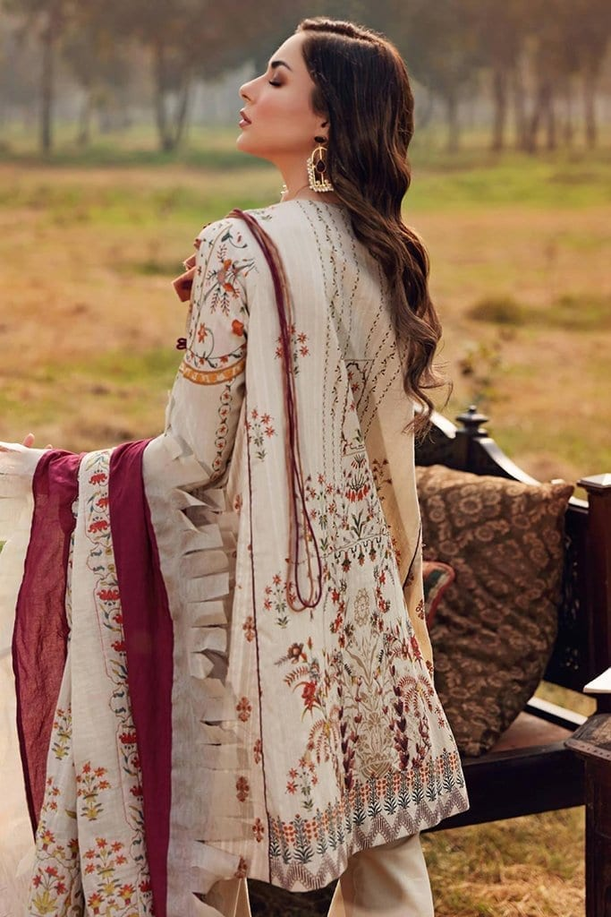 Shiza hassan luxury lawn 2020 collection sh20l 7 b soft spring 2