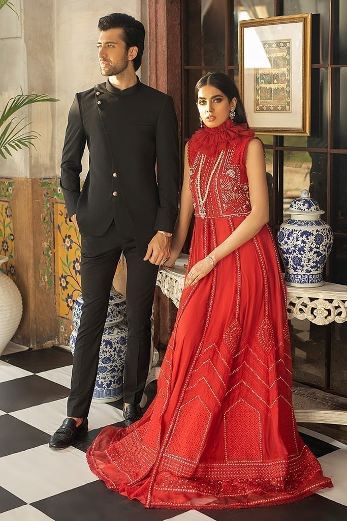 MUSHQ | Monsoon Affair Luxury STITCHED collection*20 | SCARLET SYMPHONY