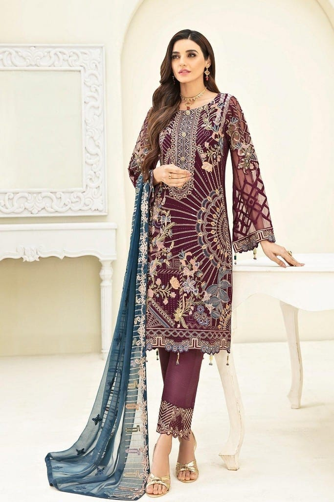 RAMSHA | CHERVAN EMBROIDERED Collection | A-303