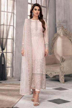 MOTIFZ | EMBROIDERED BEMBERG CHIFFON Collection | OLD FLAME-2647